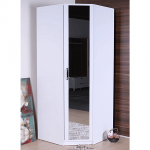 wardrobe corner mirror white