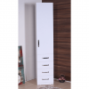 wardrobe 1 door 4 drawers white