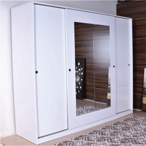 wardrobe sliding doors mirror white
