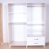 wardrobe 4 doors 2 drawers white inside
