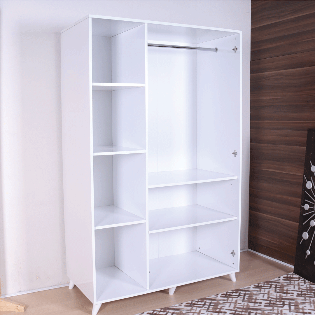 wardrobe 3 doors white inside