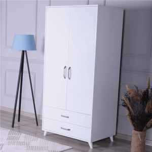 wardrobe 2 doors 2 drawers white