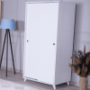 wardrobe 2 sliding doors white
