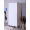 wardrobe 2 sliding doors white cream