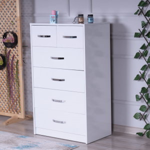 chest 6 drawers white
