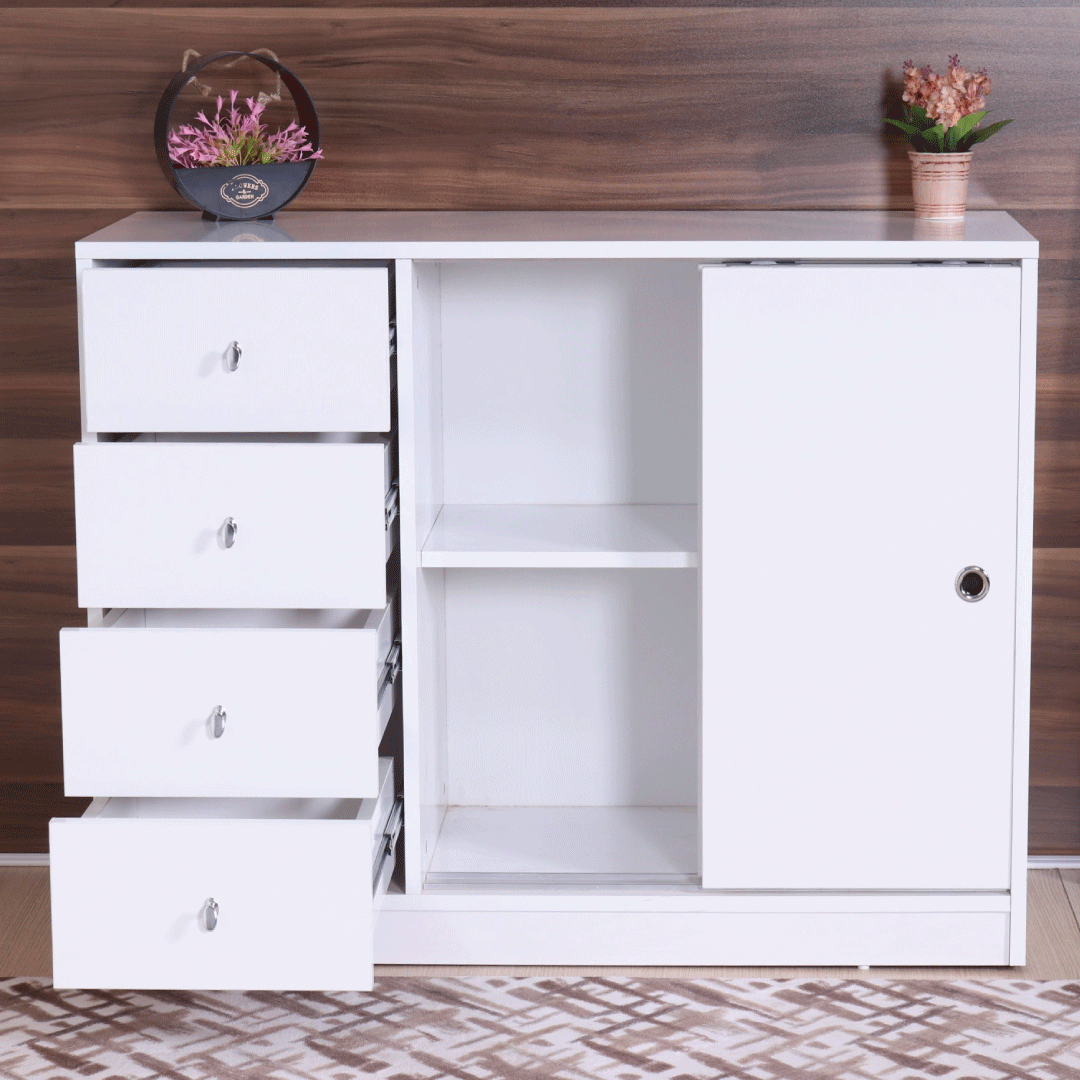 Chest 4 drawers 2 sliding doors guccamobilya